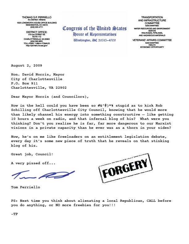 Perriello Forgery